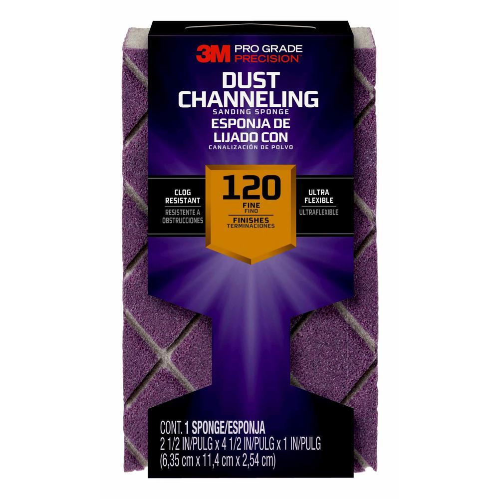 Pro Grade Precision 4-1/2 x 2-1/2 in. x 1 in. 120 Grit Fine Ultra Flexible Sanding Sponge