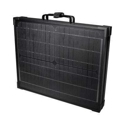 40-Watt Portable Monocrystalline Silicon Solar Panel for 12-Volt Charging in Briefcase Design