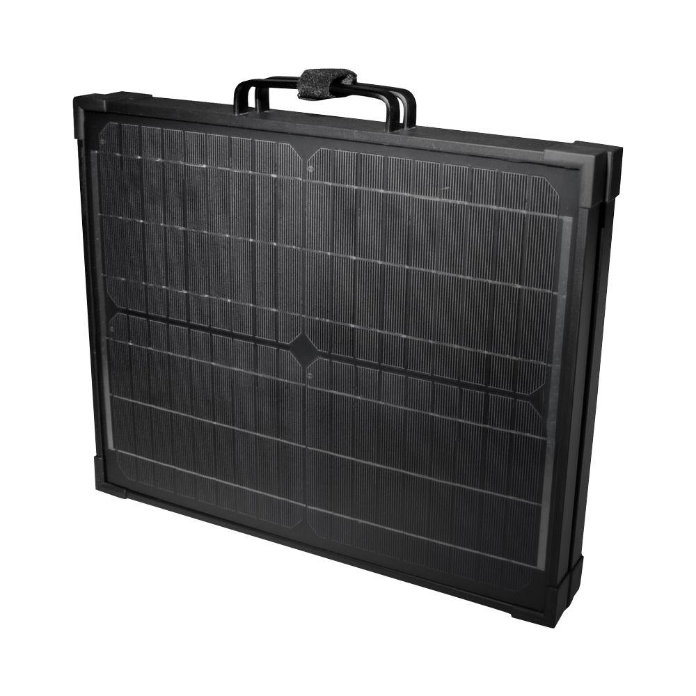 120-Watt Portable Monocrystalline Silicon Solar Panel for 12-Volt Charging in