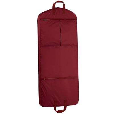 52 in. Red Dress Length Carry-On Garment Bag with 2-Pockets