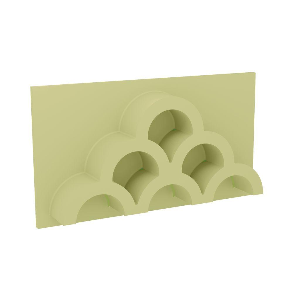 Fypon 20 in. x 11 in. x 3-1/2 in. Polyurethane 6-Hole Half Round Clustered Tile Vent