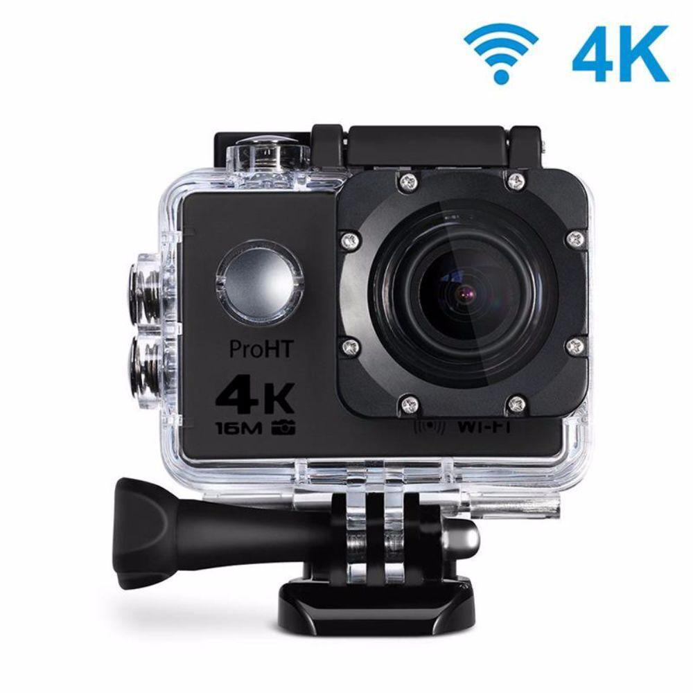 proHT 4K Waterproof 2 in. Action Camera with Wi-Fi in Black