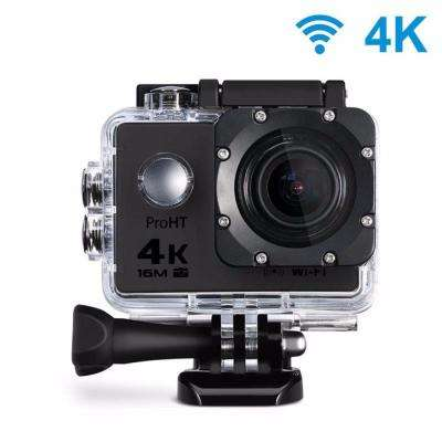 4K Waterproof 2 in. Action Camera with Wi-Fi in Black
