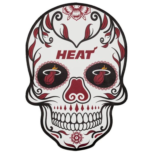Applied Icon Nba Miami Heat Outdoor Skull Graphic Large Nbos1603 The Home Depot