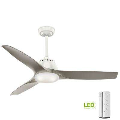 Wisp 52 in. LED Indoor Fresh White Ceiling Fan with Light and Remote