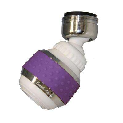 1.5 GPM Soft Grip Water-Saving Swivel Spray Aerator in White and Purple
