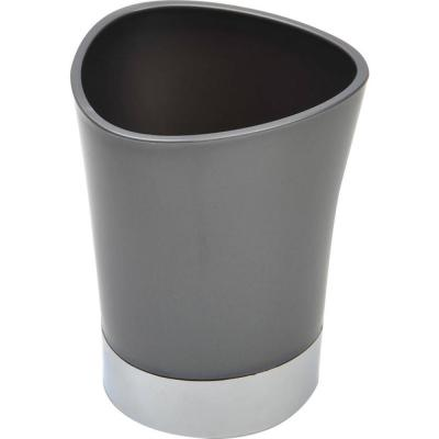 Bath Tumbler Toothbrush Holder in Chrome Base and Grey