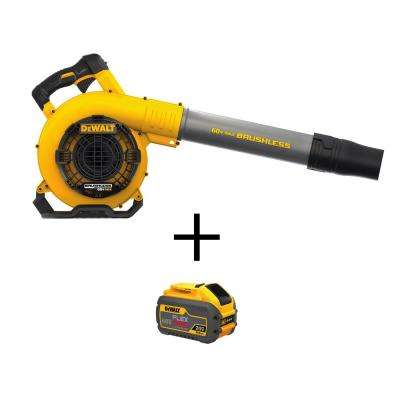 129 MPH 423 CFM 60-Volt MAX Li-Ion Cordless FLEXVOLT Handheld Leaf Blower (Tool Only) with Bonus FLEXVOLT Li-Ion Battery