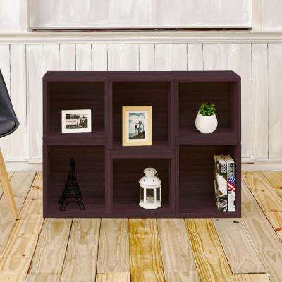Arlington Eco zBoard Tool Free Assembly Espresso Stackable Modular Open Bookcase