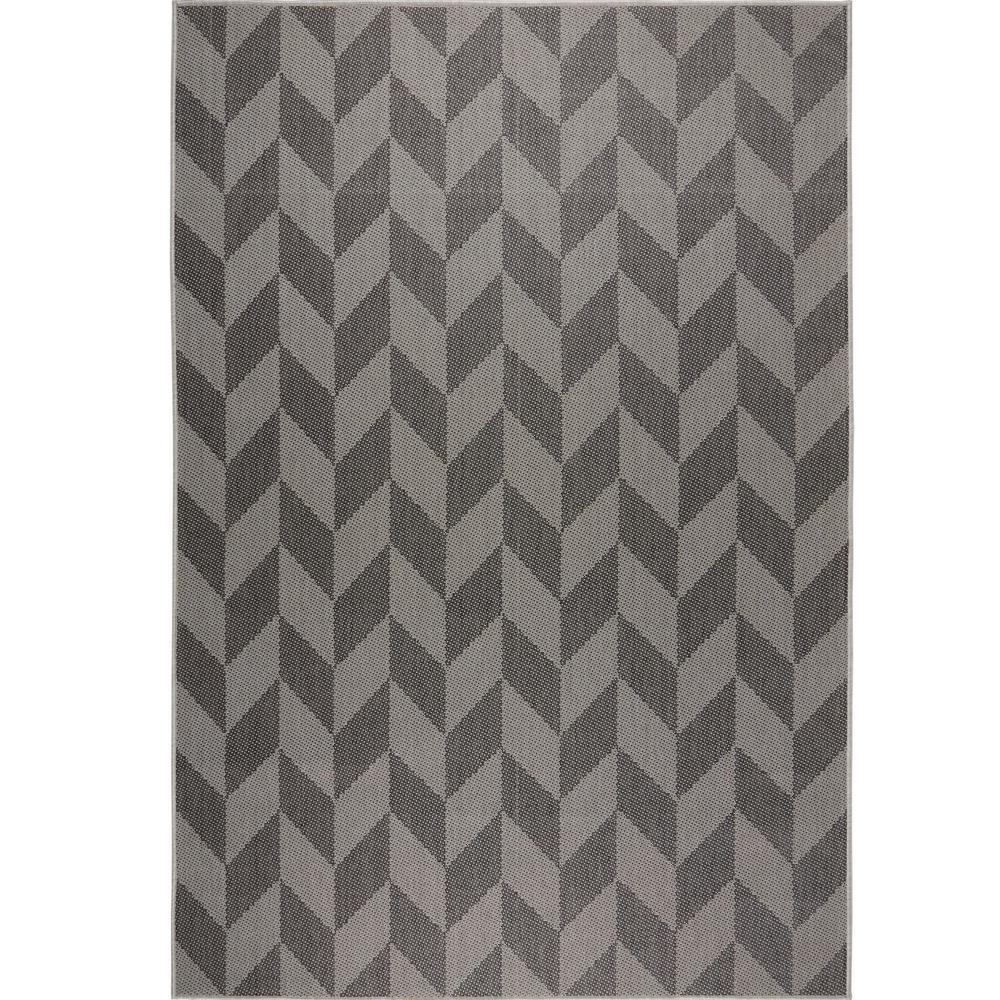 Patio Country Black/Gray 5 ft. 2 in. x 7 ft. 2 in. Indoor/Outdoor Area Rug