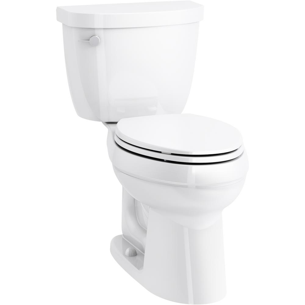 Astounding Kohler Cimarron 2 Piece Complete Solution 1 28 Gpf Single Flush Elongated Toilet In White Slow Close Seat Included Machost Co Dining Chair Design Ideas Machostcouk