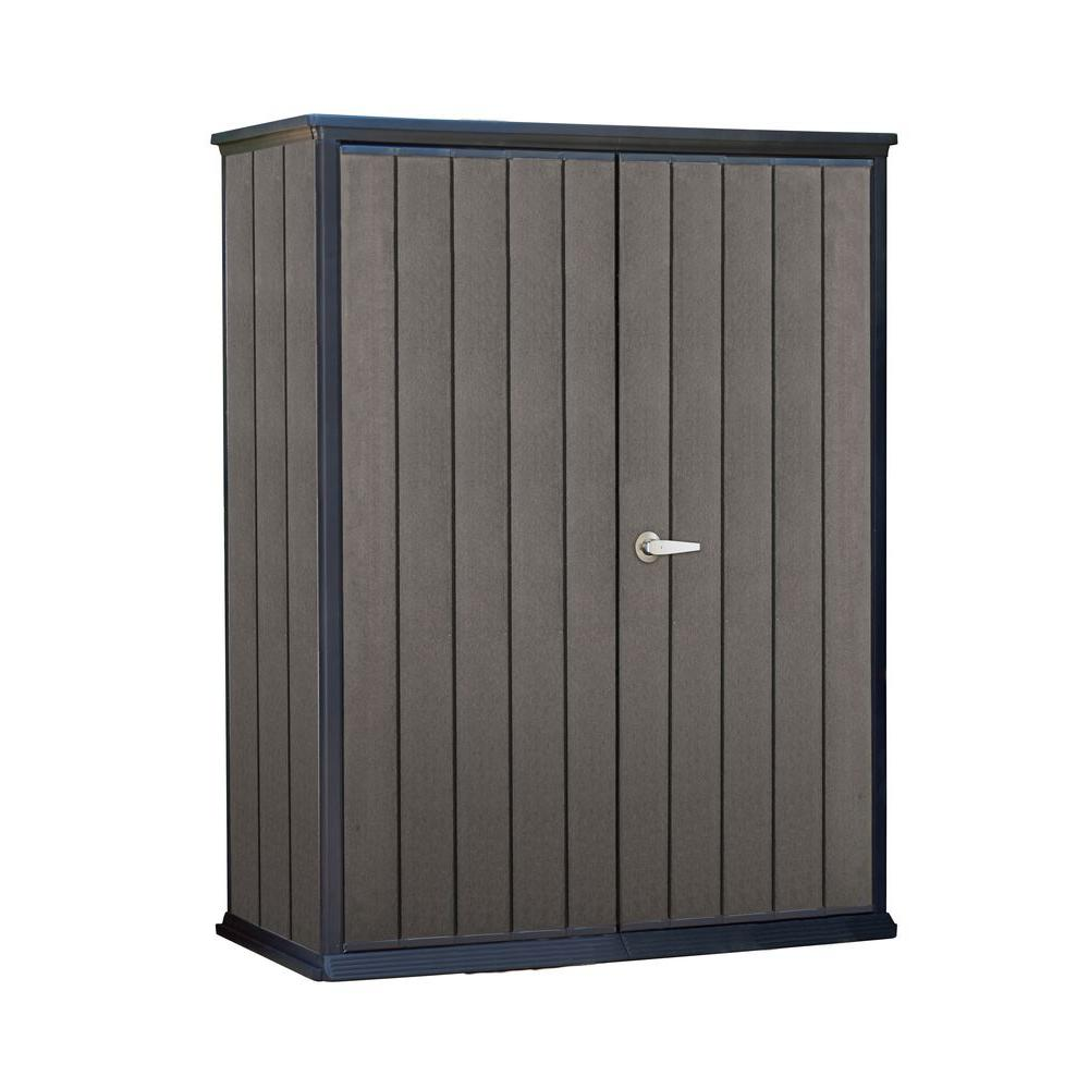 Keter high store 4 6 ft x 2 5 ft x ft resin for Garden shed 5 x 4