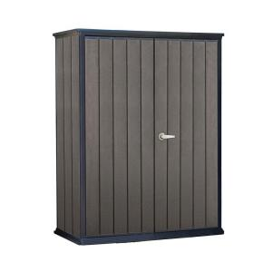 Keter High Store 4.6 ft. x 2.5 ft. x 5.10 ft. Resin Vertical Storage Shed by Keter