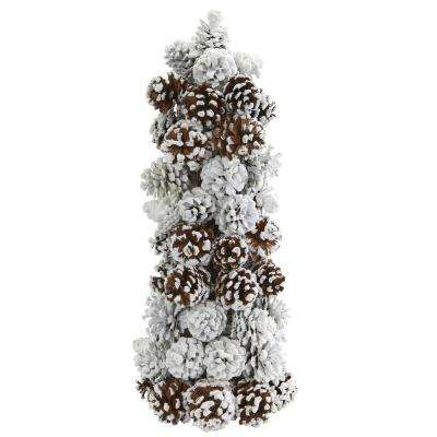 17.5 in. Frosted Pine Cone Tree