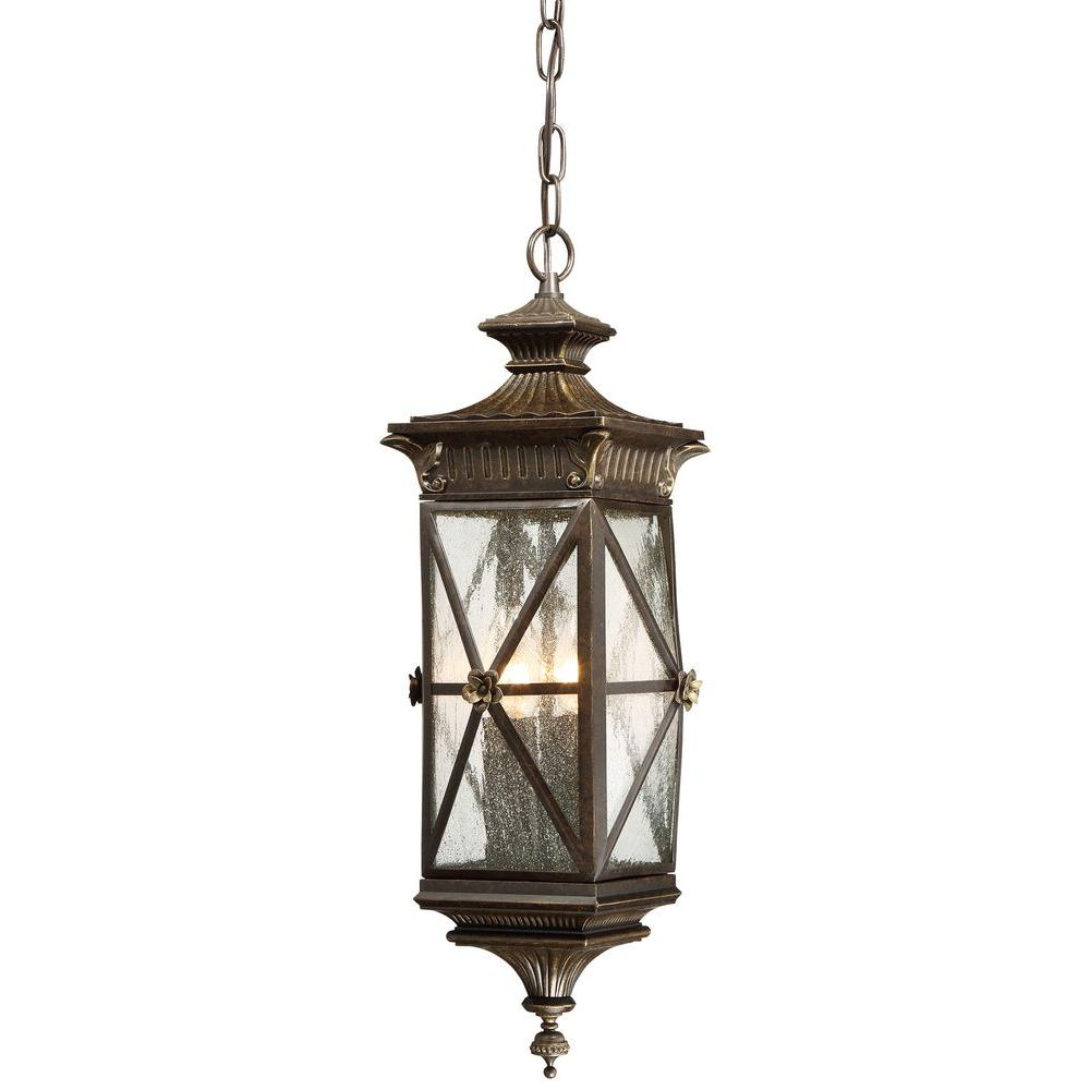 Rue Vieille 4-Light Forged Bronze Chain Hung