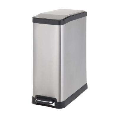 45 l Stainless Steel Rectangular Step Trash Can