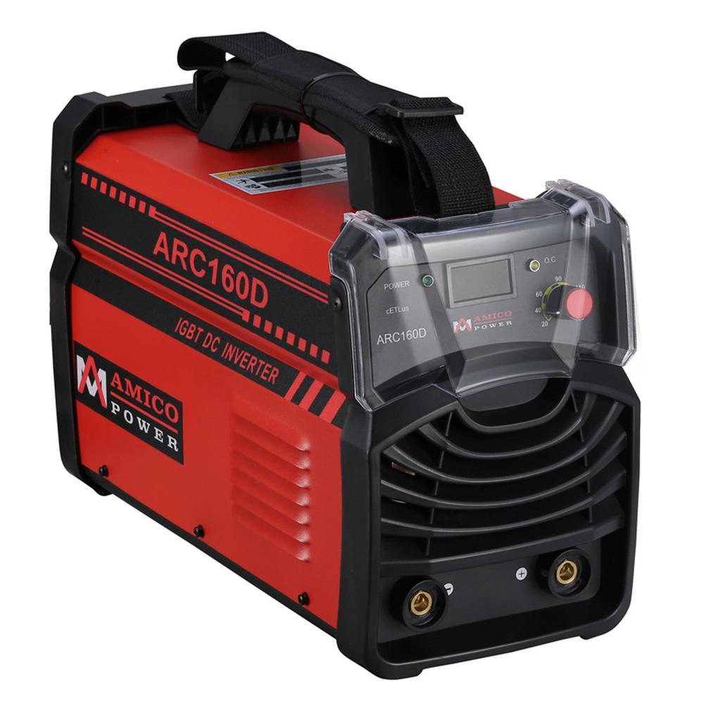 AMICO POWER Amico 160 Amp Stick arc DC Inverter Welder IGBT 115-Volt and  230-Volt Dual Voltage Welding Machine New