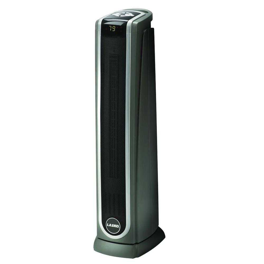 Lasko 1,500 Watt Electric Portable Ceramic Tower Heater with Logic Center Remote Control