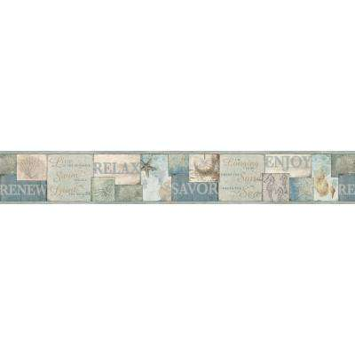 Sagamore Blue Cape Cod Blue Wallpaper Border Sample