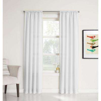 no 918 millenial ryan heathered texture sheer curtain panel