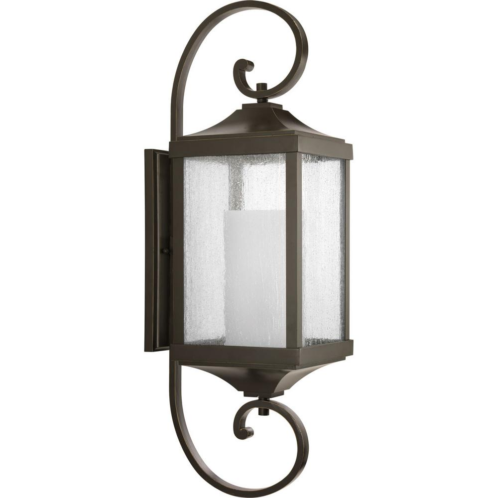 Devereux Collection 1-Light Outdoor Antique Bronze Wall Lantern