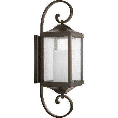 Devereux Collection 1-Light Antique Bronze 34.5 in. Outdoor Wall Lantern Sconce
