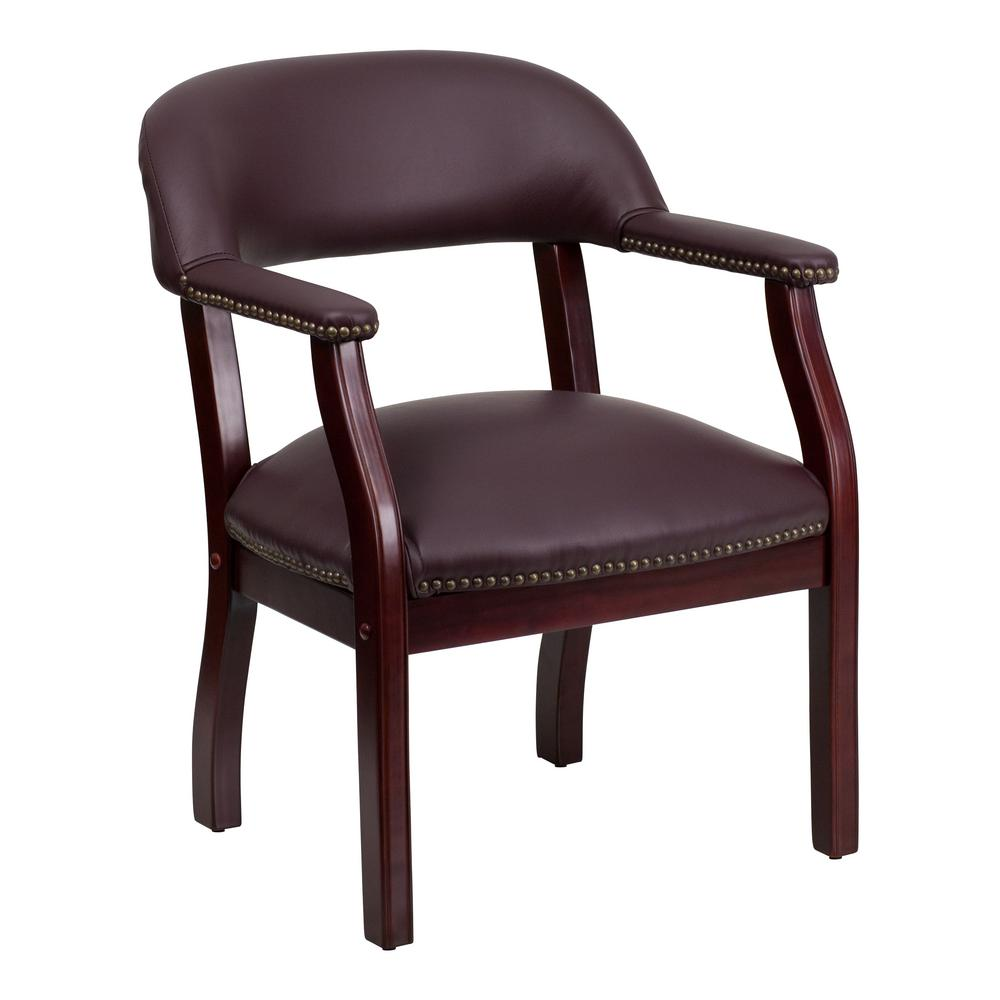 flash furniture burgundy leather office desk chair bz105lf19lea