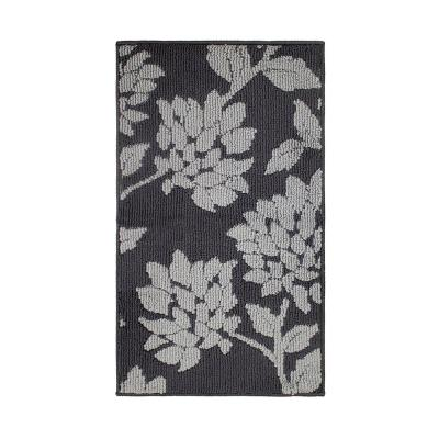 Melly Dark Grey/Grey 2 ft. x 5 ft. Loop Runner Rug