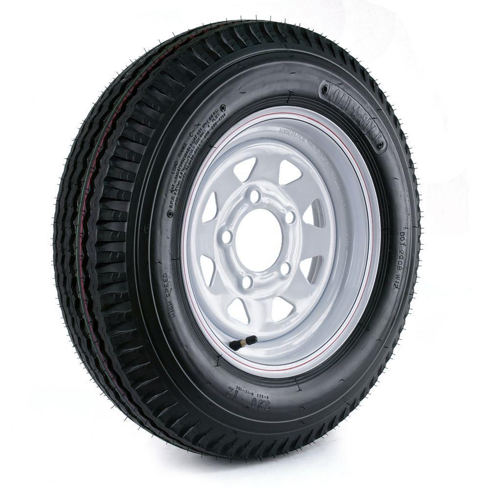 Martin Wheel 530-12 Load Range C 5-Hole Custom Spoke Trailer Tire ...