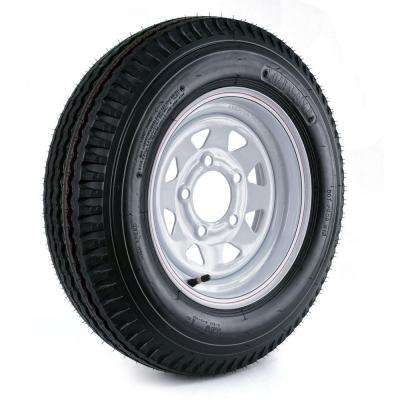 530-12 Load Range C 5-Hole Custom Spoke Trailer Tire and Wheel Assembly