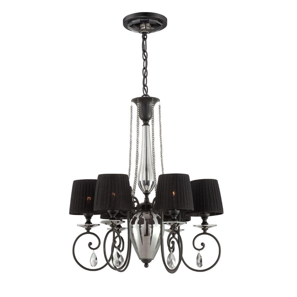 Nero Collection 6-Light Chrome Chandelier
