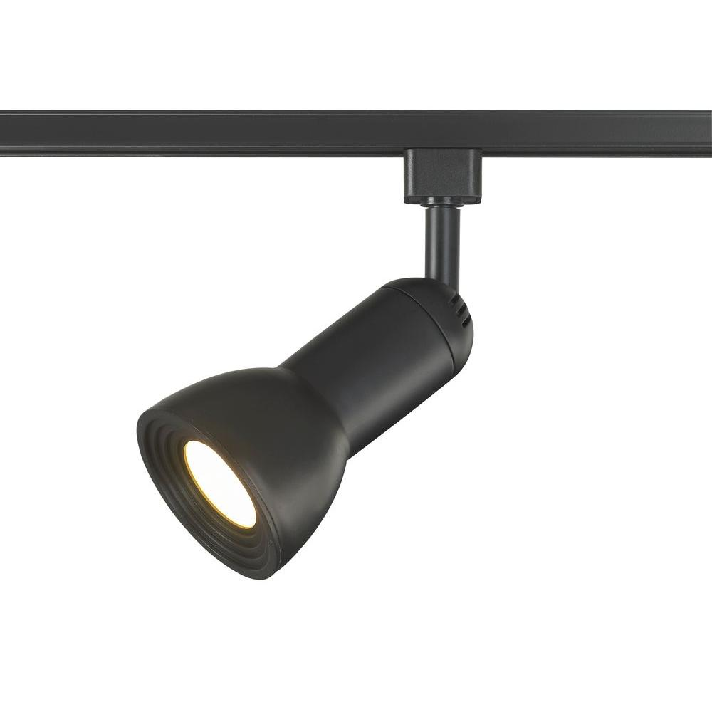 LED Medium Linear Track Lighting Step Head Black