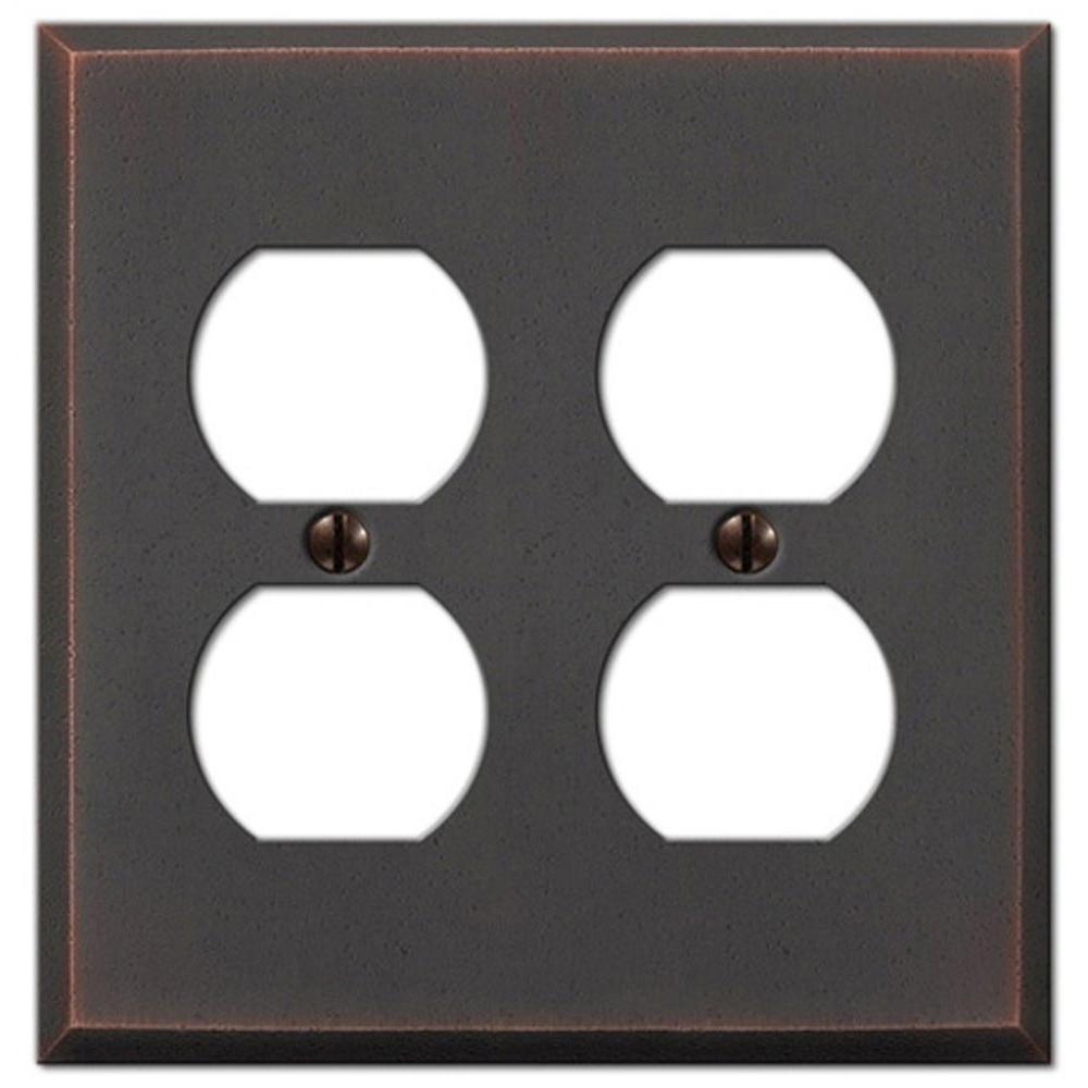 amerelle manhattan 2 duplex wall plate