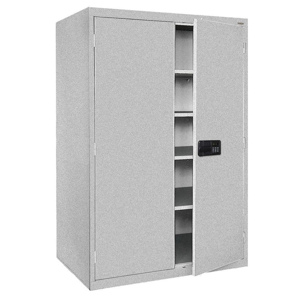 Elite Series 78 in. H x 46 in. W x 24 in. D 5-Shelf Steel Keyless Electronic Handle Storage Cabinet in Multi Granite