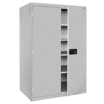Elite Series 78 in. H x 46 in. W x 24 in. D 5-Shelf Steel Keyless Electronic Handle Storage Cabinet in Multi Granite