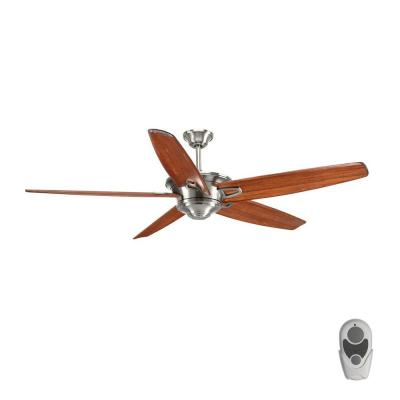 Caleb 68 in. Indoor Brushed Nickel Ceiling Fan with Remote