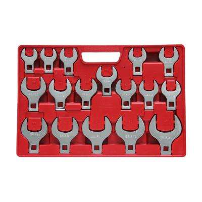 1/2 in. Drive MM Jumbo Crowfoot Wrench Set (17-Piece)