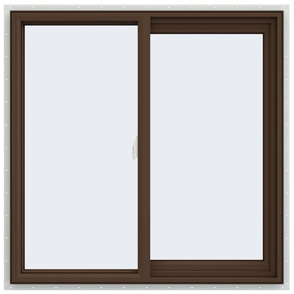 35.5 in. x 35.5 in. V-2500 Series Right-Hand Sliding Vinyl Window