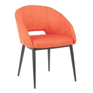 Pleasing Lumisource Renee Contemporary Orange Upholstered Chair With Camellatalisay Diy Chair Ideas Camellatalisaycom