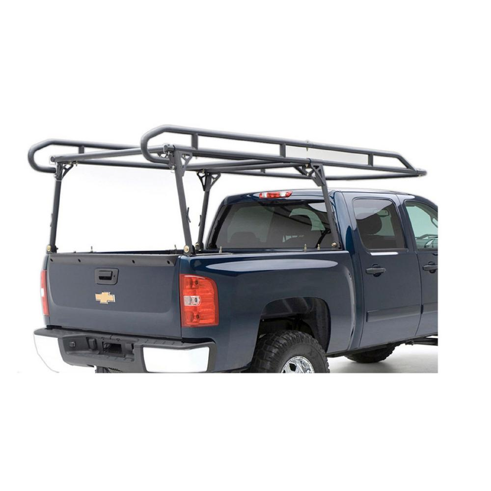 erickson 1,000 lbs. steel truck rack patented adjustable clamping system  fits all trucks