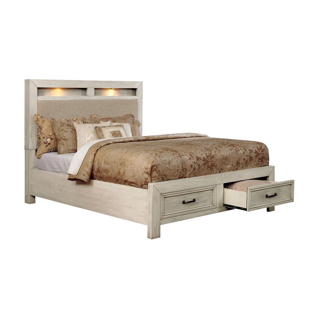 Tywyn in Antique White Queen Bed