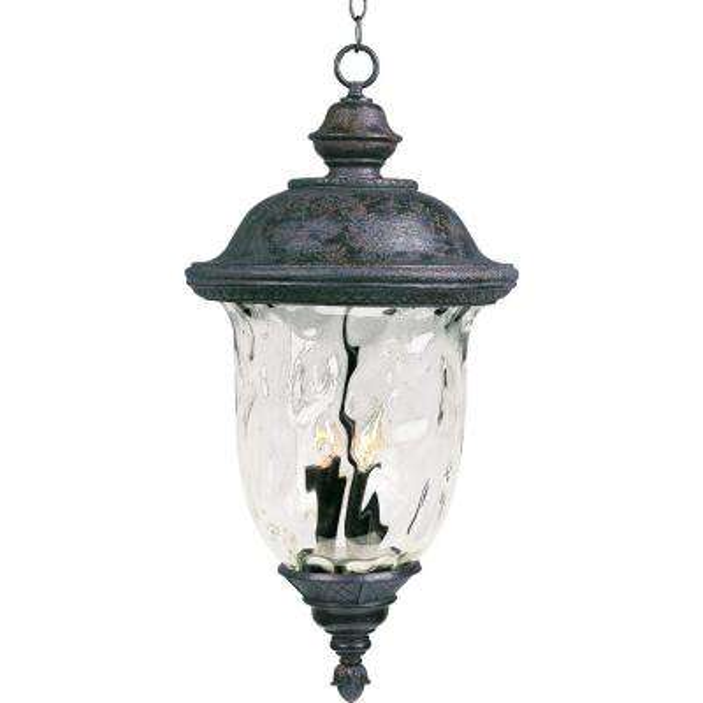 Carriage House Vivex 3-Light Oriental Bronze Outdoor Hanging Lantern
