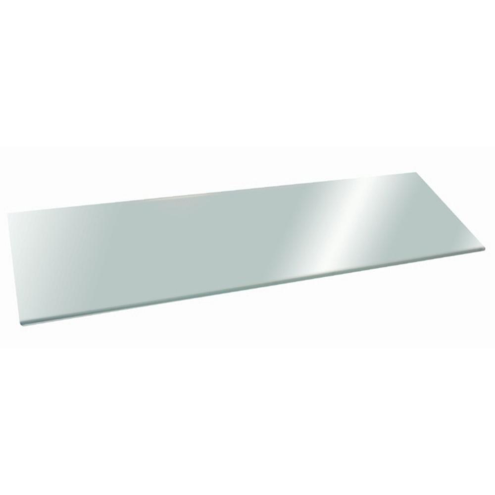 Glacier 48 in. x 12 in. Opaque Glass Shelf