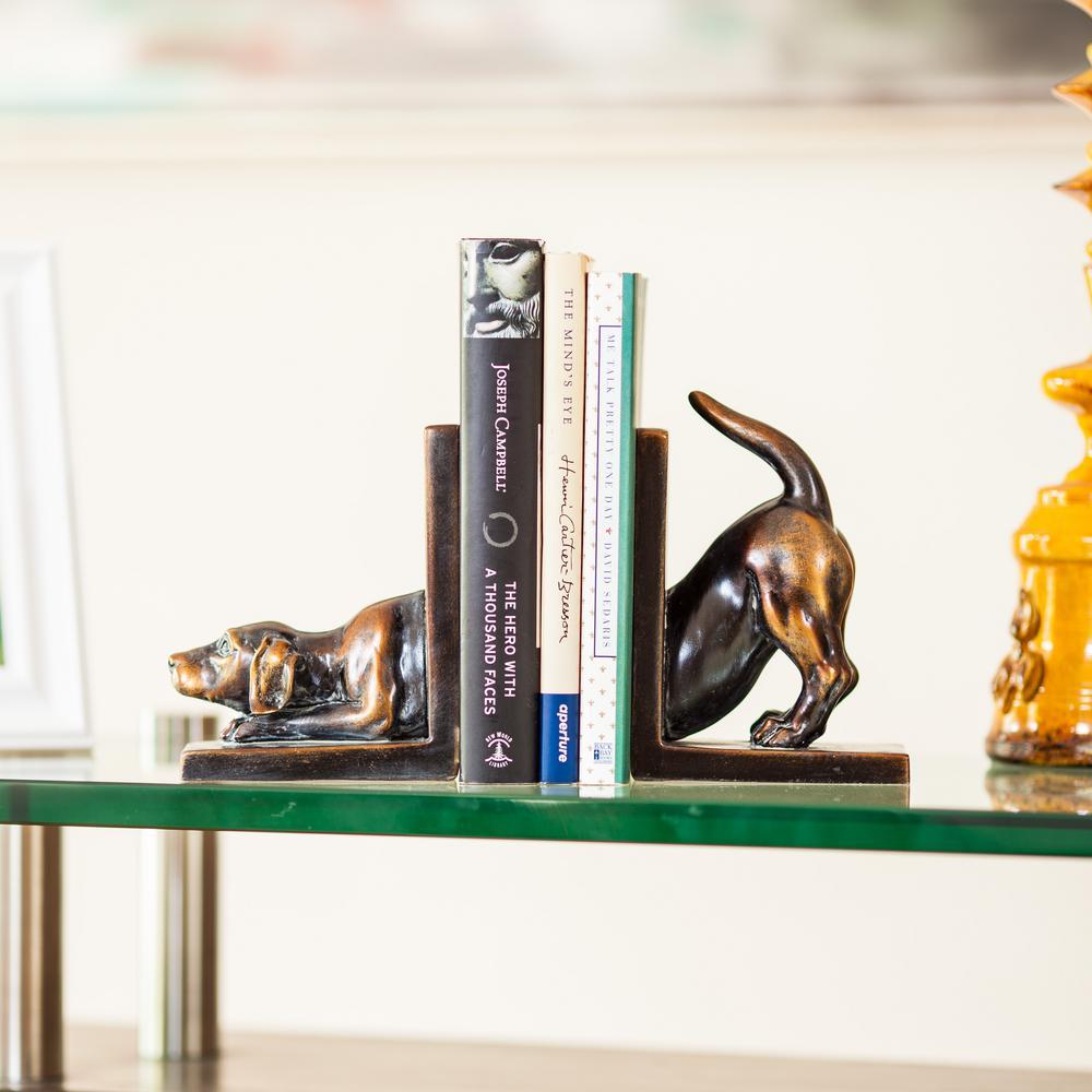 Danya B  Savvy Bronze Patina Labrador Dog Bookends (Set of 2