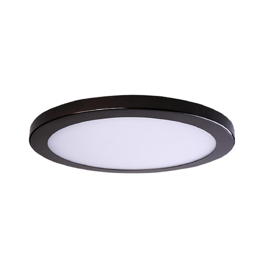 Round Platter Light Length 15 In Bronze New Construction Recessed Integrated Led Trim Kit Fixture