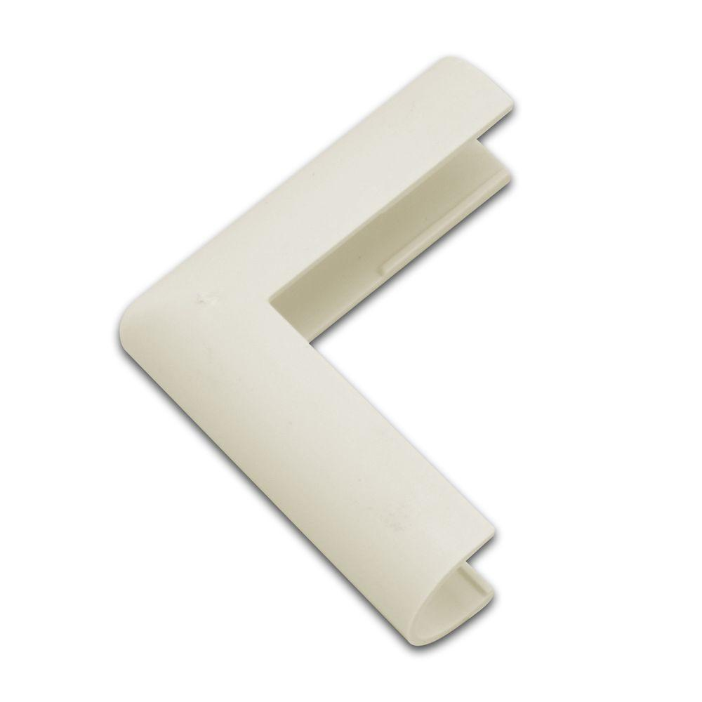 Legrand Wiremold CordMate Cord Cover Outside Elbow, Ivory