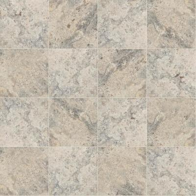 Silver Tumbled Travertine 16 in. x 16 in. Gray Paver Tile (20 Pieces / 35.6 Sq. Ft. / Pallet)