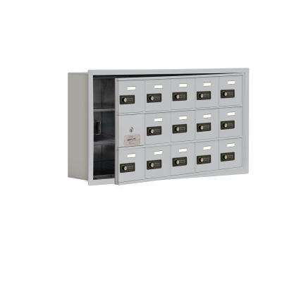19100 Series 35.75 in. W x 18.75 in. H x 5.75 in. D 14 Doors Cell Phone Locker R-Mount Resettable Locks in Aluminum