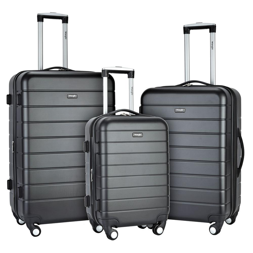 b5fc767418592 Wrangler 3-Piece Hardside Luggage Collection with Spinner Wheels-WR ...