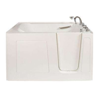 Long 5 ft. x 32 in. Walk-In Bathtub in White with Right Drain/Door